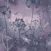 damselfly purple tapet Arthouse Fantasia 692306