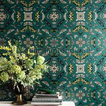 Glitter bug emerald tapet Arthouse Vintage Gamle