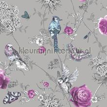paradise garden gunmetal tapet Arthouse Fantasia 692403