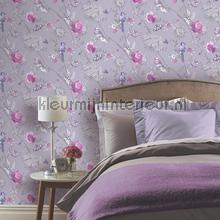 Paradise garden lilac behang Arthouse romantisch