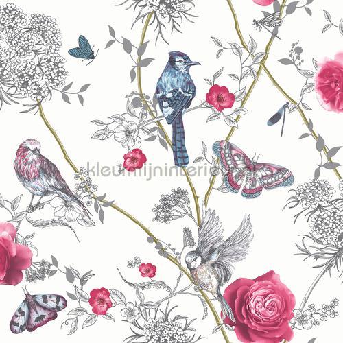 paradise garden white multi papel pintado 692405 niñas Arthouse