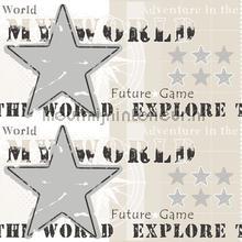 Explore the world rand behang Rasch jongens