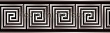 Griekse lijnblok rand zilver behang Kleurmijninterieur randen
