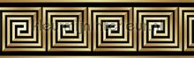 Griekse lijnblok rand goud behang Kleurmijninterieur randen