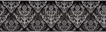 Ornaments rand zilver zwart behang Kleurmijninterieur randen