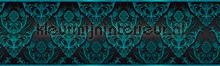 Ornaments rand turquoise behang Kleurmijninterieur randen