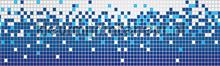 Mosaic tiles rand blauw behang Kleurmijninterieur randen