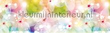 Bunte lilien rand behang Kleurmijninterieur randen