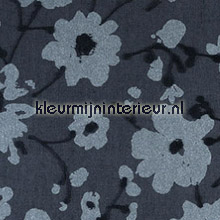 Metal Velvet Flower and Lin Black Tie behang Arte Flamant Suite III 18011