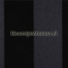 Stripe Velvet and Lin Black Tie behang Arte Flamant Suite III 18111