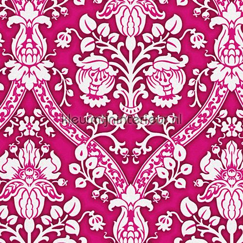 Sparkle barok fuchsia-wit behang 95689-1 aanbieding behang AS Creation