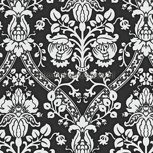 Sparkle barok zwart-wit papier peint 95689-5 Collected AS Creation