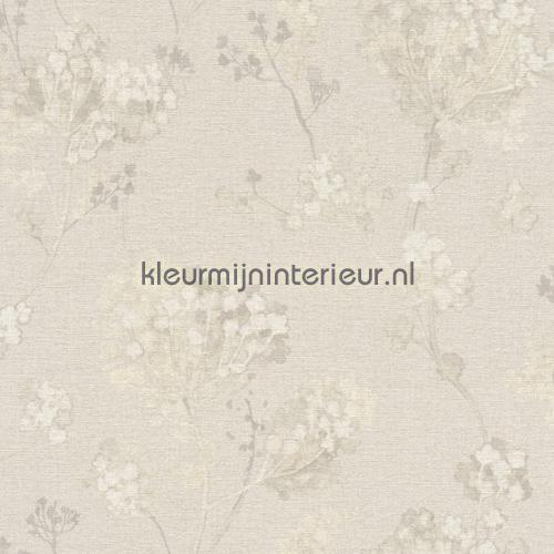Planten aquarel beige papel de parede 449259 sale wallcovering Rasch