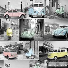 Pastel volkswagens papier peint Dutch Wallcoverings voitures transport