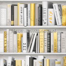 Kast met gouden boeken tapet Dutch Wallcoverings Vintage Gamle