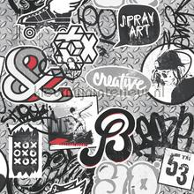 Creative graffity behang Dutch Wallcoverings tieners