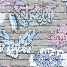 Street graffity behang Dutch Wallcoverings jongens