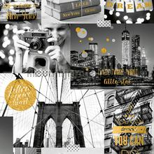 Love New York gold tapeten Dutch Wallcoverings Freestyle l310-02