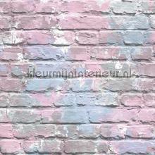 Geschilderde bakstenen pastel papel pintado Dutch Wallcoverings Wallpaper creations