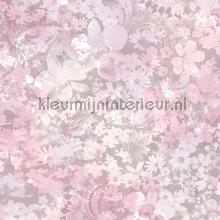 Pastel pink romance wallcovering Dutch Wallcoverings girls