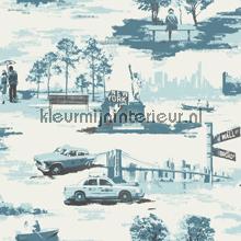 Liberty blue behang Holden fantasie