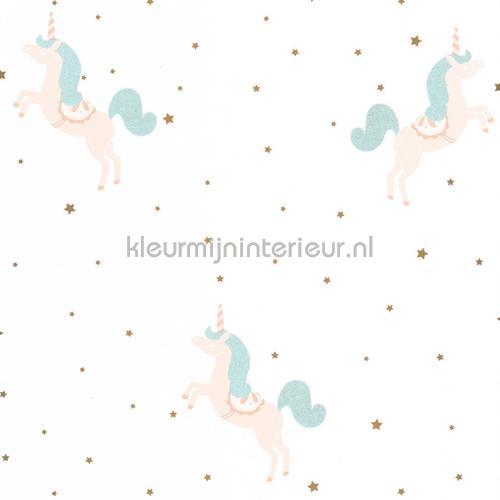 princess unicorns papel de parede gpr100796710 raparigas Caselio