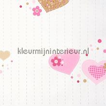 Coeurs papel pintado Caselio rayas