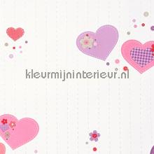Coeurs papel de parede Caselio quadrado