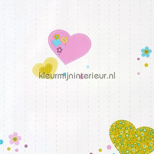 Coeurs behang GLN61956075 hartjes Caselio