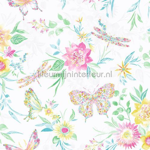 botanical butterfly Multi White papel de parede 90261 raparigas Dutch First Class