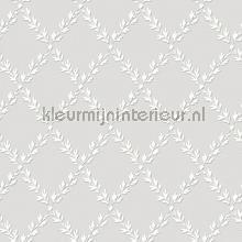 Luxe bladruiten tapet Dutch First Class romantisk