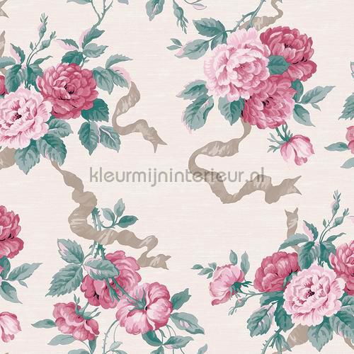 luxe rozenlinten wallcovering jc1006-1 romantic Dutch First Class