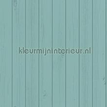 Schrootjes petrolblauw papier peint Esta home Greenhouse 143-128-855
