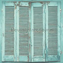 Shutter behang licht turquoise Esta home Trendy Hip