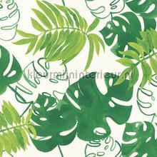 Grote bladeren fel groen behang Esta home Trendy Hip