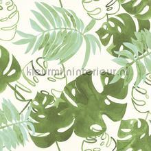 Grote bladeren natuurgroen behang Esta home Trendy Hip