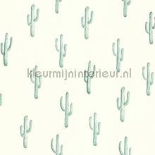 Kleine cactussen licht mint behang Esta home Trendy Hip