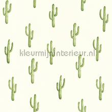 Kleine cactussen groen behang Esta home Trendy Hip