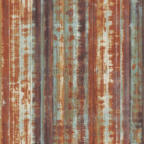Striped rusty metal tapet g45358 Grunge Noordwand
