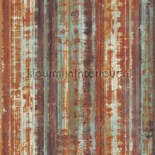Striped rusty metal wallcovering Noordwand Vintage- Old wallpaper