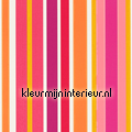 Jelly Tot Stripe orange pink pattern