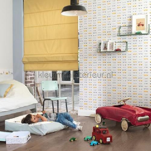 All over vintage cars papel pintado HPDM82767315 niños Casadeco