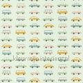 All over vintage cars children's curtains niños