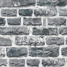 donkergrijze bakstenen muur tapeten AS Creation Helemaal van nu 361404
