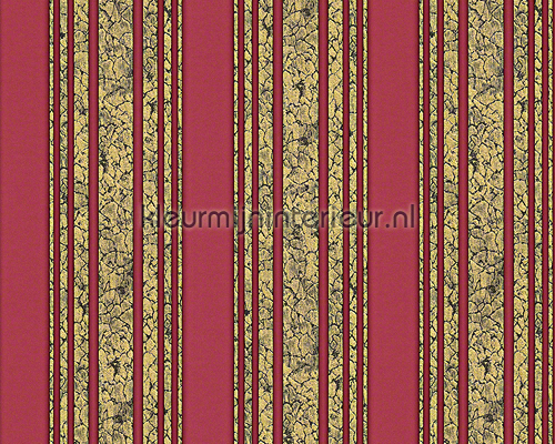 Craquele streep rood behang 94343-1 aanbieding behang AS Creation