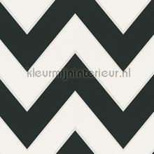 Zig zag lijnen zwart wit tapet AS Creation High Rise 939431