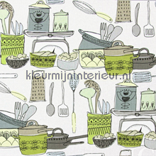 POTS AND PANS Courgette gordijnen Prestigious Textiles landelijk