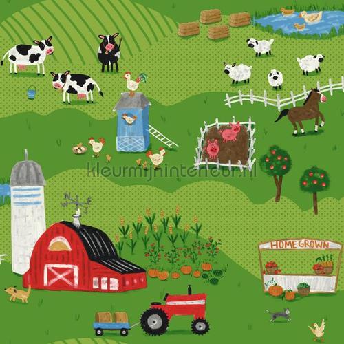 Boerderij land behang 351717 Interieurvoorbeelden behang Eijffinger