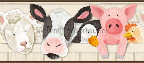 Boerderij dieren rand behang 351719 Interieurvoorbeelden behang Eijffinger