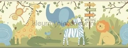 Peuter jungle rand pastel behang 351728 Baby - Peuter Eijffinger